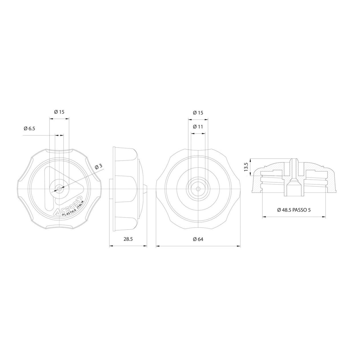 Acerbis Tankdeckel Small Cap abschließbar | Enduro-Store.de on