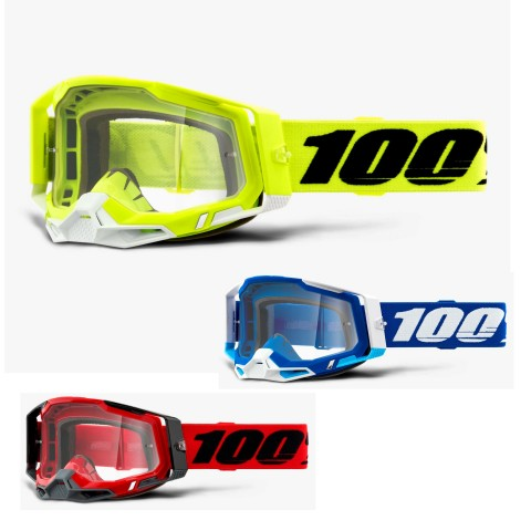 100% Racecraft 2 Crossbrille clear