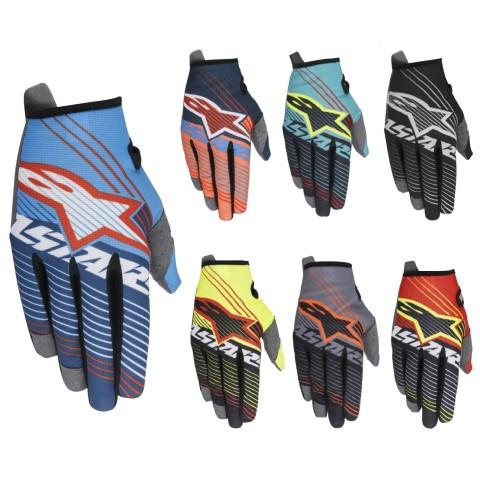 Alpinestars Handschuhe Radar Tracker in Blau, Rot, Weiss, Orange, Neongelb, Gelb, Grau, Schwarz, Grün
