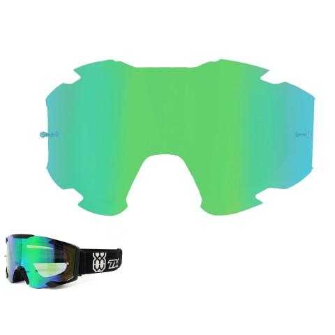 TWO-X BOMB Spiegelglas grün Ersatzglas MX Brillenglas verspiegelt