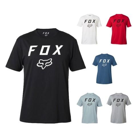 Fox Legacy Moth T-Shirt in Schwarz, Grau, Rot, Blau