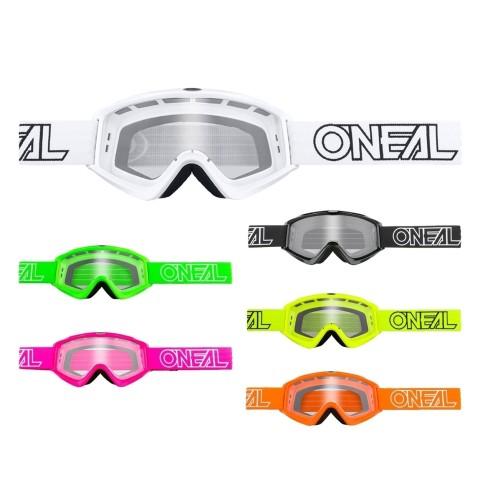 Oneal B-Zero Crossbrille S18 in Schwarz, Weiß, Neongelb, Orange, Grün, Lila