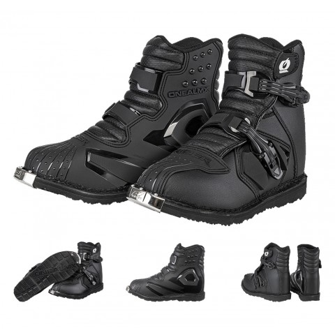 Oneal Motocross Stiefel Rider SHORTY in Schwarz