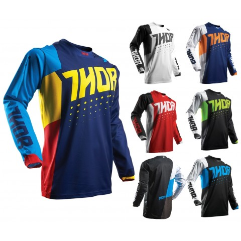 Thor MX Jersey Pulse Aktiv MX Shirt für Motocross Enduro MX Cross