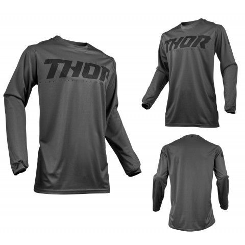 Thor MX Jersey Pulse Smoke in Grau, Schwarz