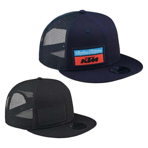 Troy Lee Designs KTM Team Snapback Hat Stock in Blau, Schwarz