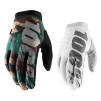 100% Brisker Handschuhe in Weiss Schwarz Camouflage