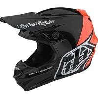Troy Lee Designs GP Block Crosshelm schwarz orange