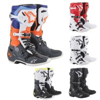 Alpinestars TECH 10 MX Stiefel 2018 in Schwarz, Weiß, Orange, Blau, Rot