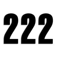 Blackbird Startnummern schwarz  #2 13X7CM Three Series