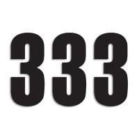 Blackbird Startnummern schwarz  #3 13X7CM Three Series