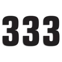 Blackbird Startnummern schwarz  #3 16X7.5CM Two Series