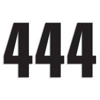 Blackbird Startnummern schwarz  #4 13X7CM Three Series