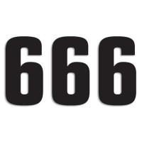 Blackbird Startnummern schwarz  #6 16X7.5CM Two Series