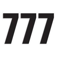 Blackbird Startnummern schwarz  #7 13X7CM Three Series