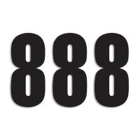 Blackbird Startnummern schwarz  #8 13X7CM Three Series