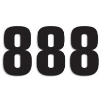 Blackbird Startnummern schwarz  #8 16X7.5CM Two Series