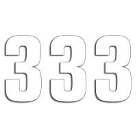 Blackbird Startnummern weiss  #3 16X7.5CM Two Series