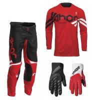 Thor Pulse Combo Cube rot schwarz Hose Jersey Handschuhe