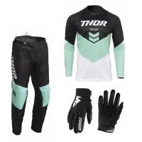 Thor Sector CHEV Combo mint Hose Jersey Handschuhe