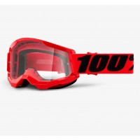 100% Strata 2 Crossbrille Kinder rot clear