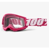 100% Strata 2 Crossbrille Kinder pink clear