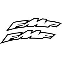 Sticker von FMF Weiß FMF Aufkleber Kotflügel oder Anhänger