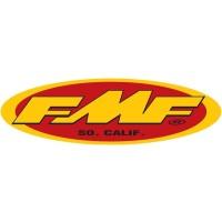 Sticker von FMF Gelb Rot FMF Aufkleber Kotflügel oder Anhänger
