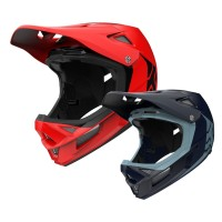Fox Rampage Comp INFINITE Full Face DH Helm in Rot, Blau