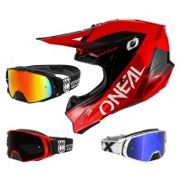 Oneal 10Series Core Crosshelm rot mit TWO-X Rocket Crossbrille