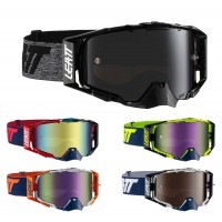 Leatt MX Brille Velocity 6.5 Iriz verspiegelt in Schwarz, Grau, Rot, Blau, Neongelb, Gelb