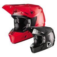 Leatt GPX 3.5 Color S20 Crosshelm in Rot, Schwarz, Grau