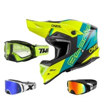 Combo Helm & Brille von Oneal  Motocross Helm mit Brille, Oneal Helmcombo, Crosshelm Goggle