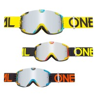 Oneal B-30 Kinder Crossbrille INK in Neongelb, Schwarz, Rot, Orange, Bunt