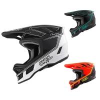 Oneal Downhill MTB Helm Blade Charger in Schwarz, Weiß, Rot, Blau