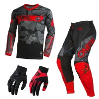 Oneal Element Camo Combo rot Jersey Crosshose