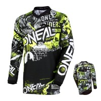 Oneal Element Kinder Jersey Attack neon gelb