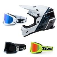 Oneal Sonus MTB Helm mit TWO-X Race Brille in Schwarz, Grau