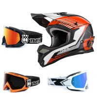 Oneal 1Series Crosshelm Stream orange mit TWO-X Race Brille