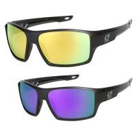 Oneal Sunglasses 75 Sonnenbrille schwarz getöntes Glas in Schwarz, Gelb, Blau