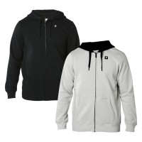 SHIFT PATCHED Fleece Zip Hoody