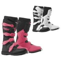 Frauen Motocross Stiefel in weiss und pink