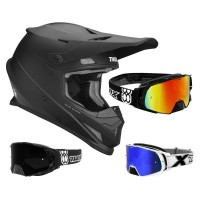 Thor Sector Crosshelm Matt inkl. TWO-X Rocket Crossbrille in Schwarz