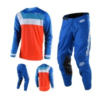 Troy Lee Designs GP Prisma Combo Jersey Crosshose orange blau