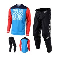 Troy Lee Designs GP Raceshop Combo Jersey Crosshose rot blau