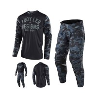 Troy Lee Designs GP Cosmic Combo 2018 camo in Schwarz, Blau, Grau, Camoflage