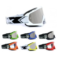 TWO-X Race Crossbrille silber verspiegelt Solid
