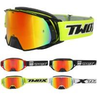 Crossbrille von TWO-X  verspiegelte Motorrad MX Goggle, Spiegel Brille Enduro-Brille