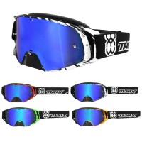 TWO-X Rocket Brille Motocross Brille Crush blau verspiegelt